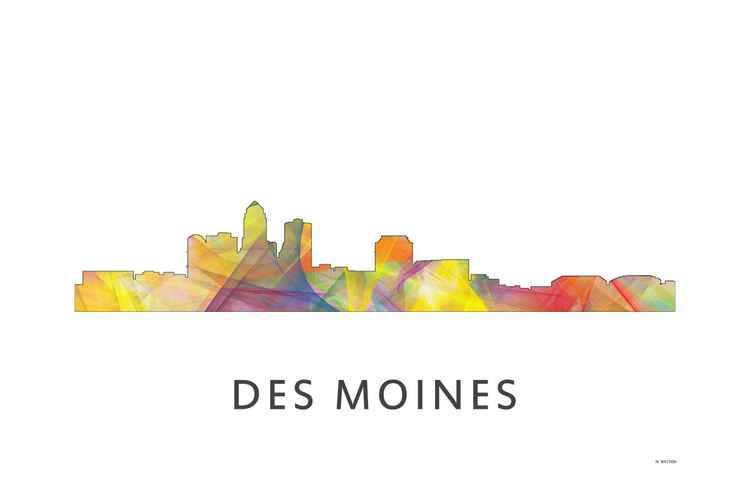 Des Moines Iowa Skyline WB1 -