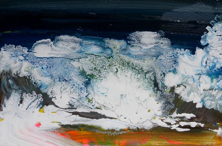 Wave, 30x20 cm, original painting - Image 0