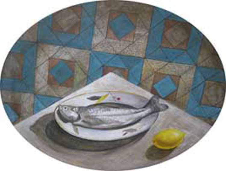 About a fish. Still life. -