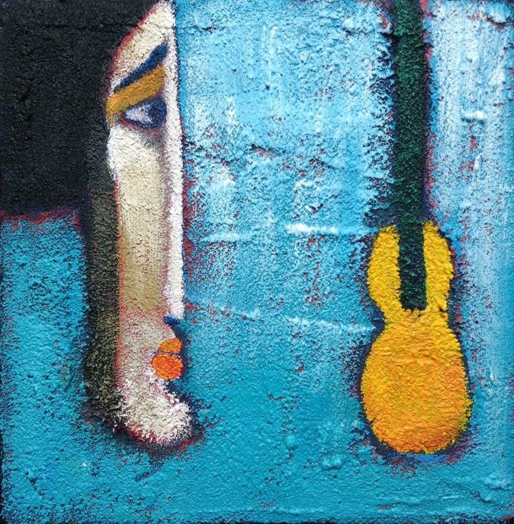 Blue musiek  (15x15x1.5cm) - Image 0