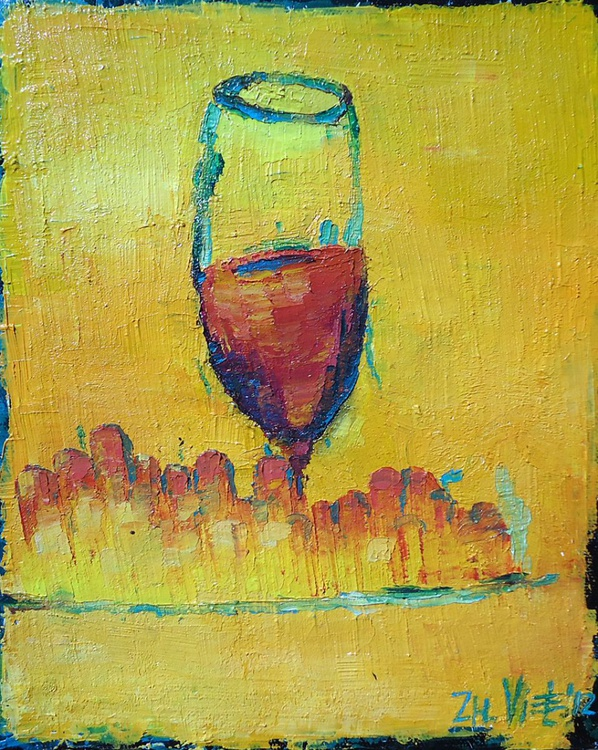 Still Life With Wine and Grapes - Image 0