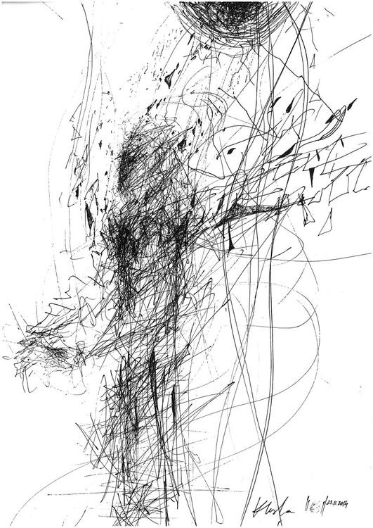 "OVIDIU KLOSKA from ""SIGNAL ANGELS"" series - Composition signed 23 november 2014 - Image 0"