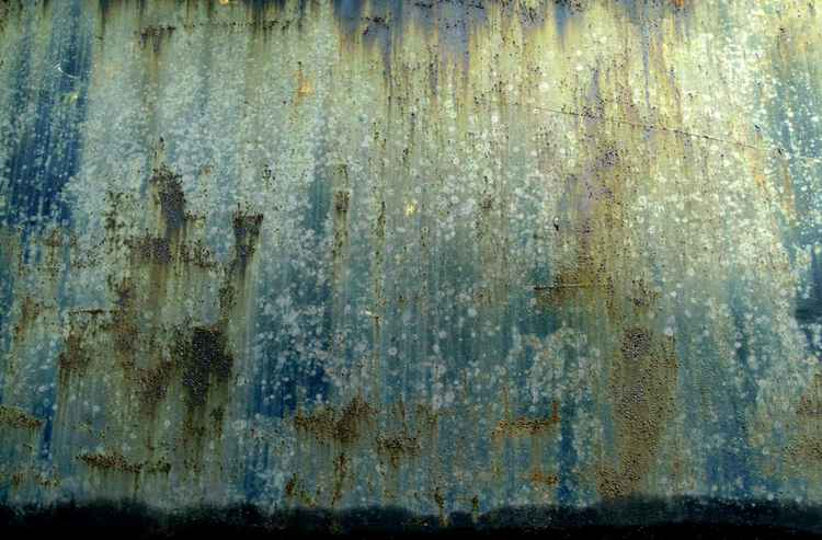 Green Rust Pattern on Oil drum by Russell Scott Skinner