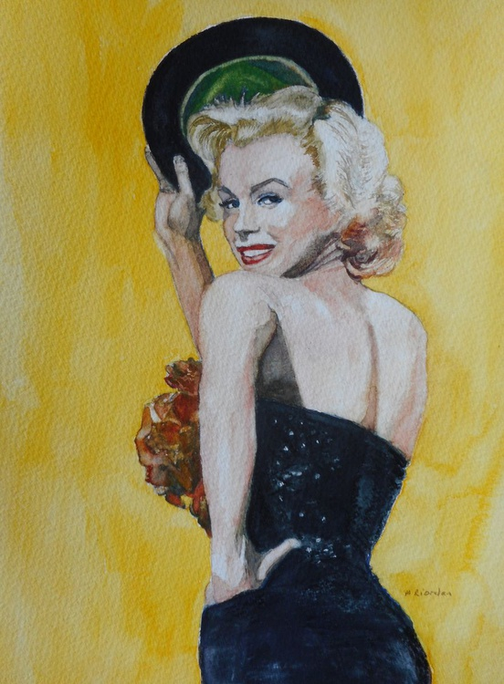 Marilyn Monroe with bowler hat - Image 0