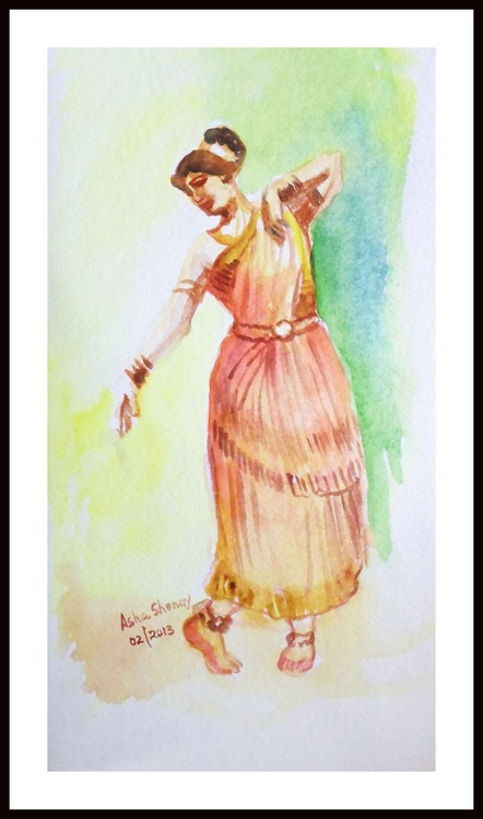 "Indian Dancer 7 -6.25""x 11"" - Image 0"