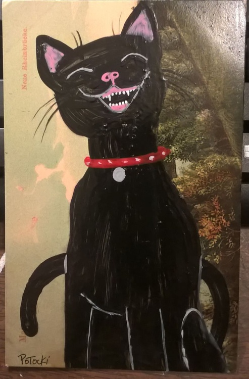 Laughing Black Cat- Cats of May Series - Image 0