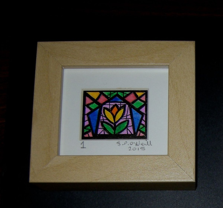 Mini stained glass window 1 - Image 0