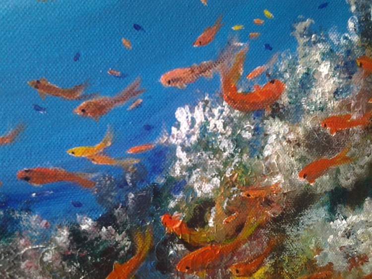 """""""The Coral Reef"""", 40×30cm - Image 0"""
