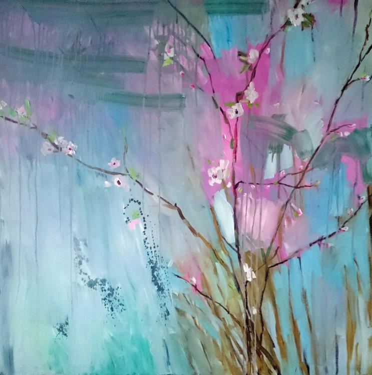 First blossom. 100x100cm - Image 0