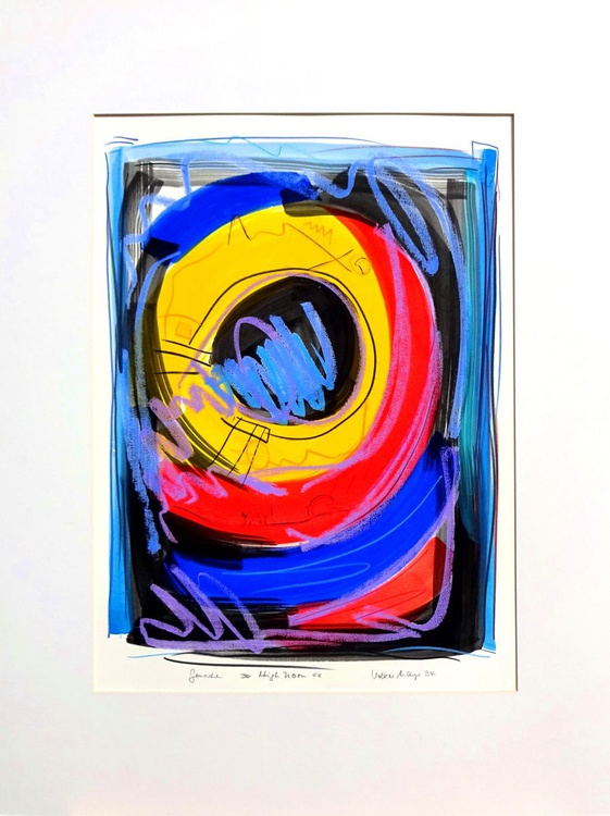 High Noon Gouache 56 x 75 cm auf Fabriano-Büttenkarton - Image 0