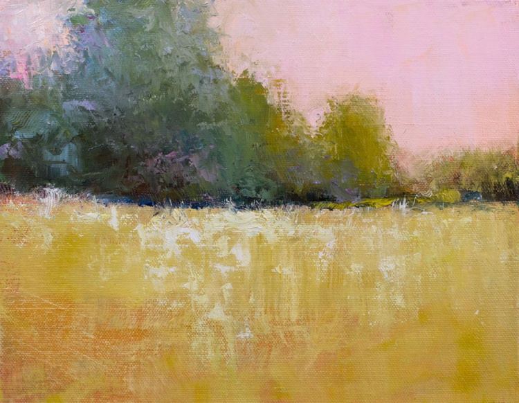 Pink Sky Gold Field - Image 0