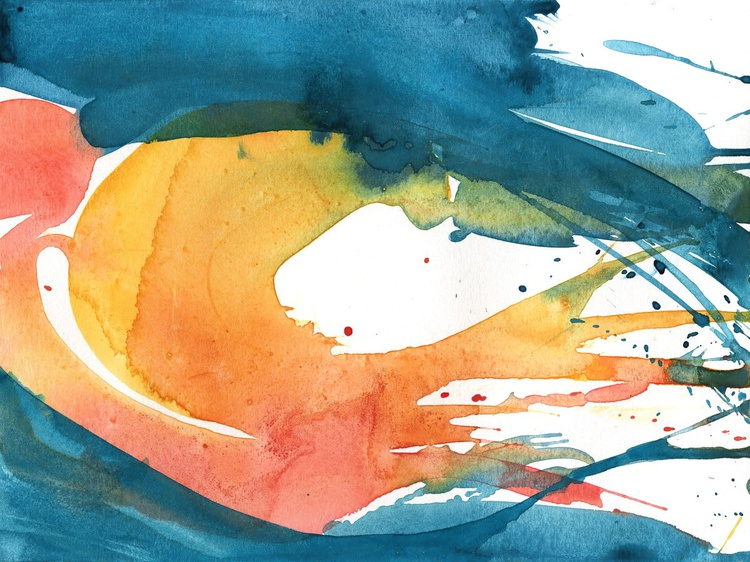 Serenity 10 - Abstract Watercolor Painting by Kathy Morton Stanion - Image 0