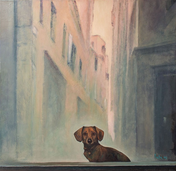 Early morning in Venice / LARGE  80 × 80 cm - Image 0