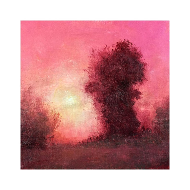 Misty Sunset, 12x12 inches - Image 0