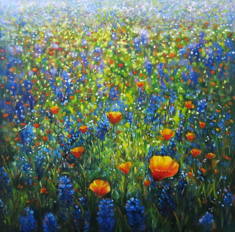 Hyacinths and Poppies - Image 0