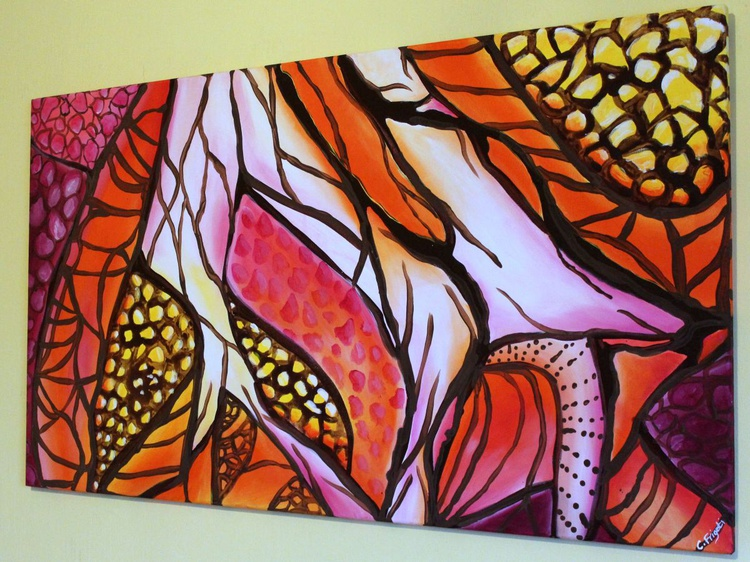 """Life and Beyond #3 - LARGE ORIGINAL ABSTRACT PAINTING, 42""""X24"""" - Image 0"""