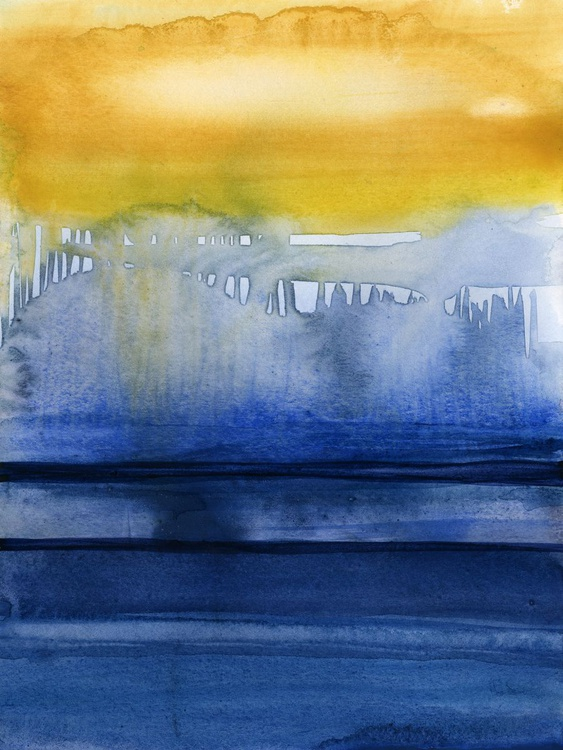 Finding Tranquility 6 - Abstract Zen Watercolor Painting - Image 0