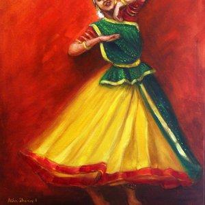 Radha's joyful dance by Asha Sudhaker Shenoy.