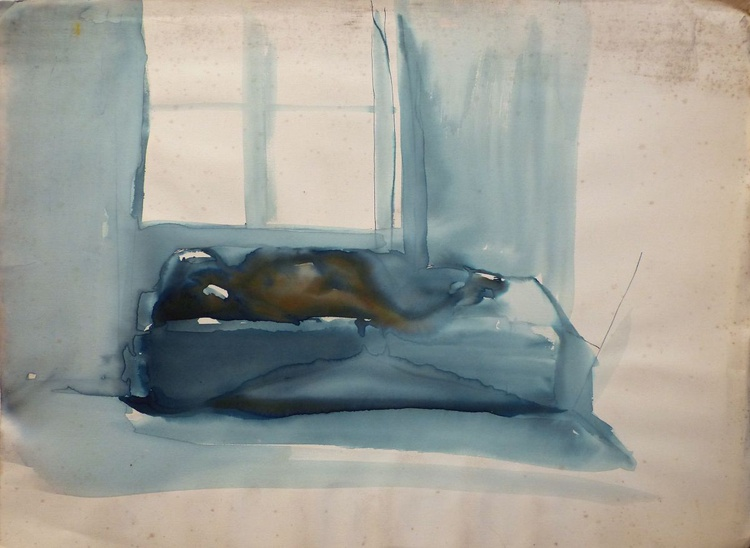 Nude lying on the Bed, 77x56 cm - Image 0