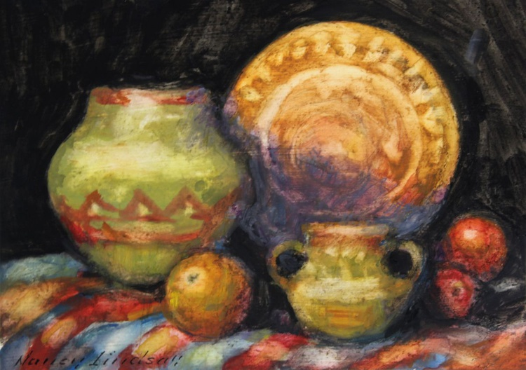 Still Life with Striped Cloth - Image 0