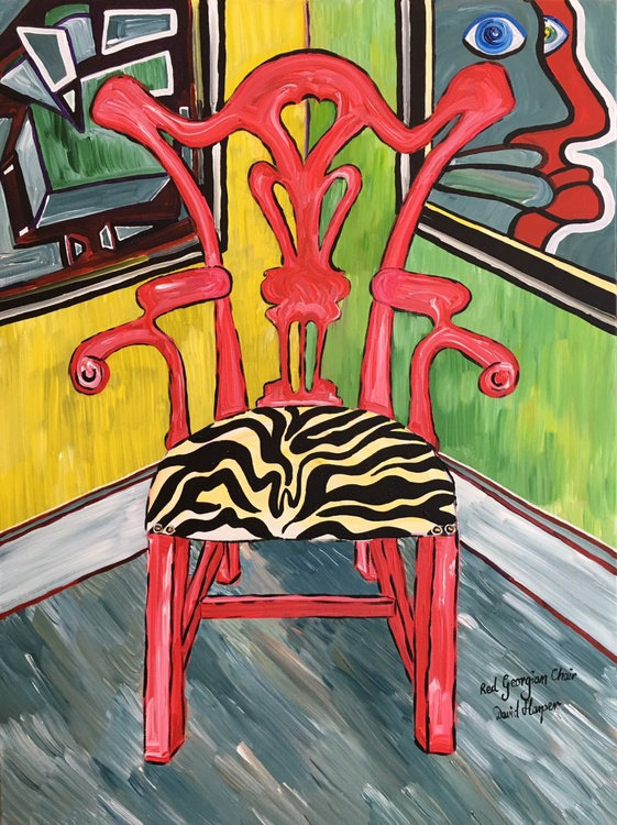Red Georgian Chair - Image 0