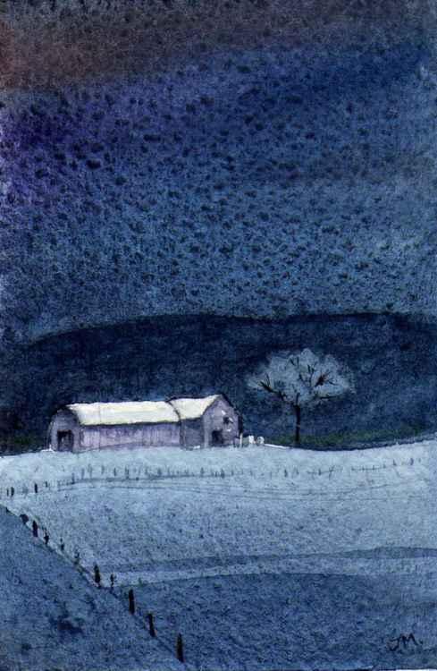 Winter Farmland. -