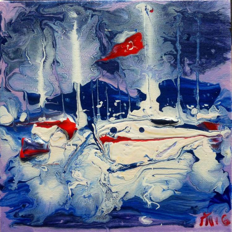 Yachts, mini art 20x20 cm - Image 0