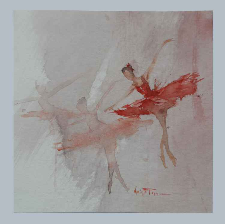 Ballet Dancers (Mini Painting) -