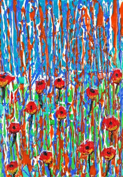 Rain on the Poppies -