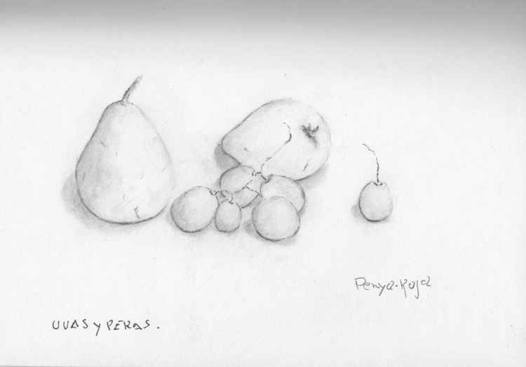 Pears and grapes -