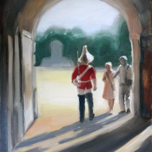 Changing Guard at Whitehall by Elizabeth  Jose