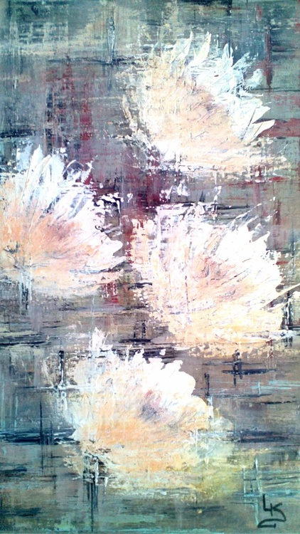 SWEETHEART - contemporary art - original Acrylic abstract painting 50x35x2 cm Acrylic on canvas - Image 0