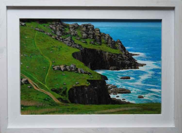 Coast near Gwennap Head. -