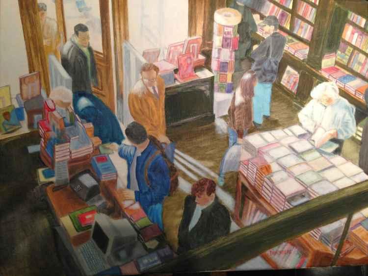 Sunlit Bookstore