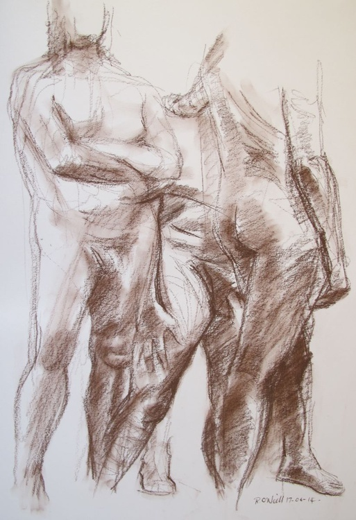 standing male nudes - Image 0