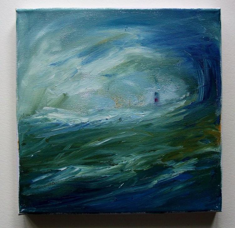 THE SEA THE LIGHTHOUSE PAINTING HAPPISBURGH (HAZEBRO) NORFOLK - Image 0