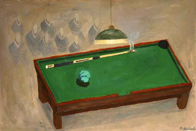 Billiards and cigarette -