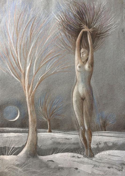 Winter - Woman as tree - Image 0