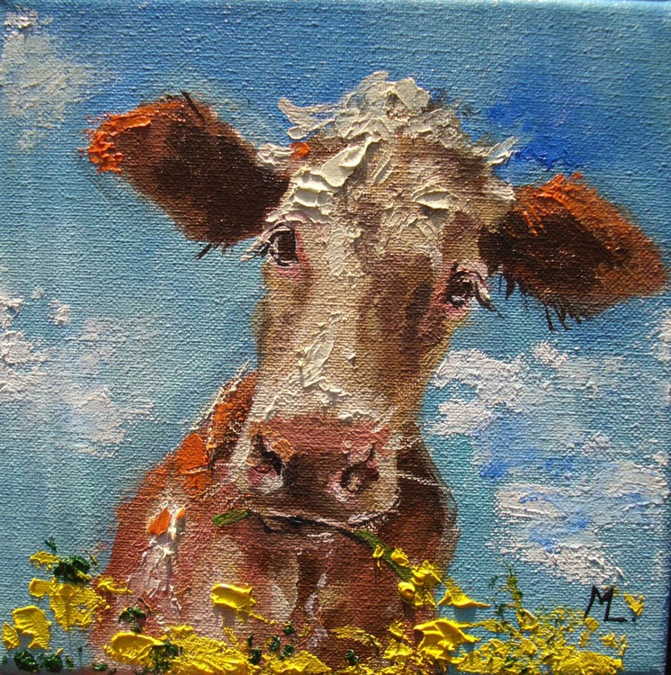 SPRING HAPPYNESS - CUTE COW - Image 0
