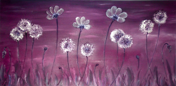 Purple Allium and Poppy Flowers - Image 0