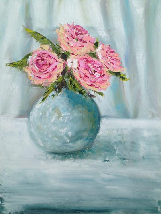 Four Pink Peonies - Image 0