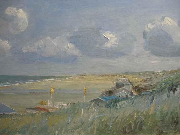 Dunes, beachhouses Scheveningen. -