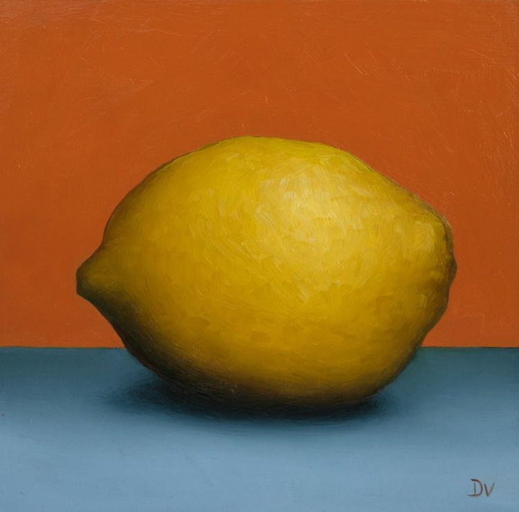 Still life with Lemon 2 - Daily Painting Challenge - Image 0