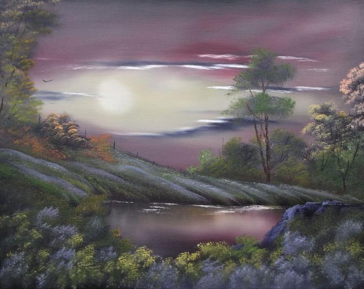 Lavender crop at Sunset. - Image 0
