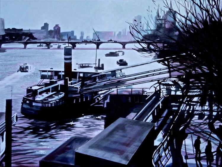 Low Winter Sun Embankment London - Image 0