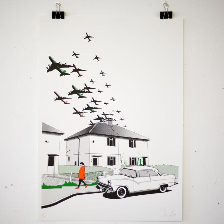 Flightpath screen-print A1 - Image 0