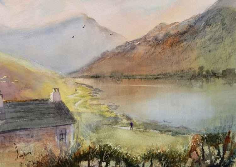 Lakeside Path - Original Watercolour Painting -