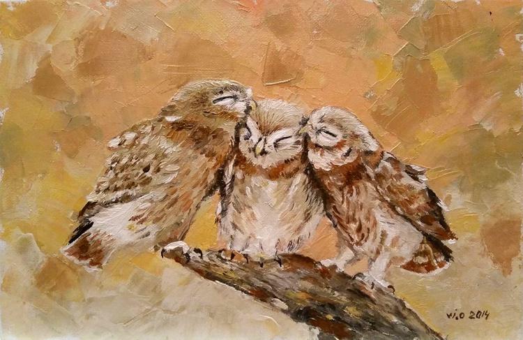 Love of owl family - Image 0