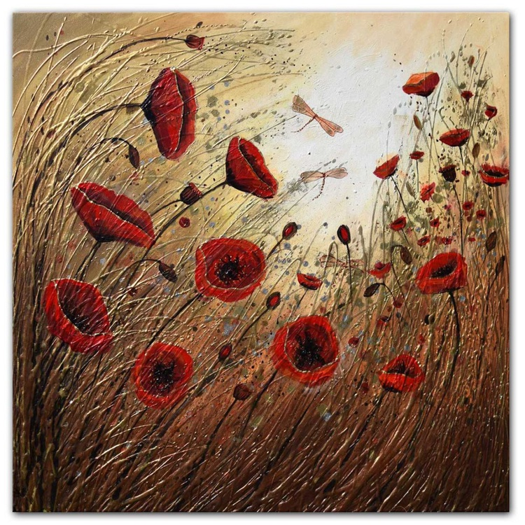 Poppies in the Wind - Image 0
