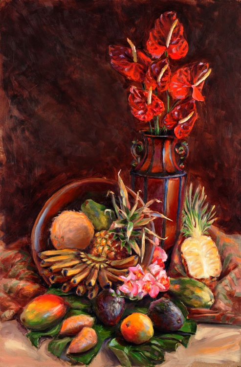 My Hawaii - Tropical Still Life Oil Painting - Image 0